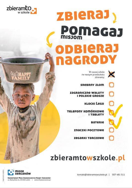 """Projekt """"Zbieramto w szkole"""" w ZSA"""