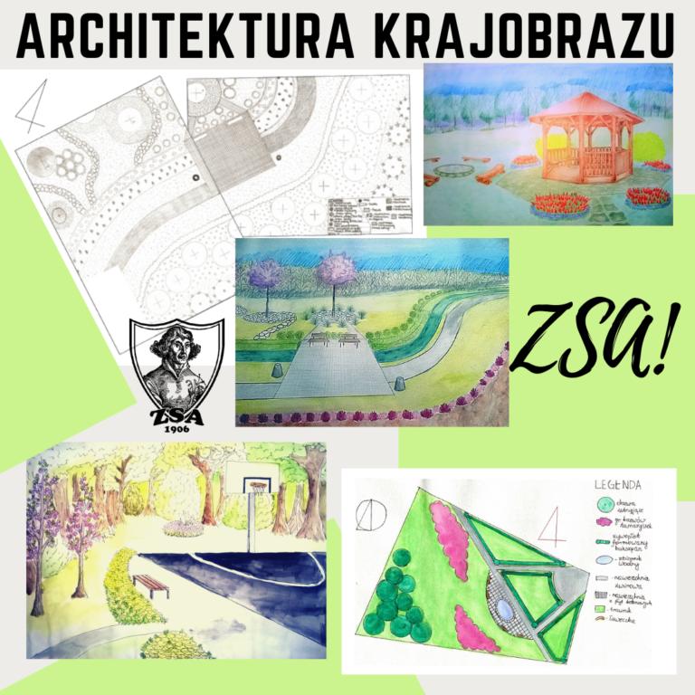 Przykładowe projekty techników architektury krajobrazu