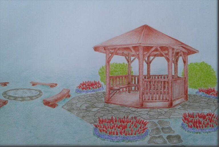 Altana ogrodowa - element małej architektury krajobrazu
